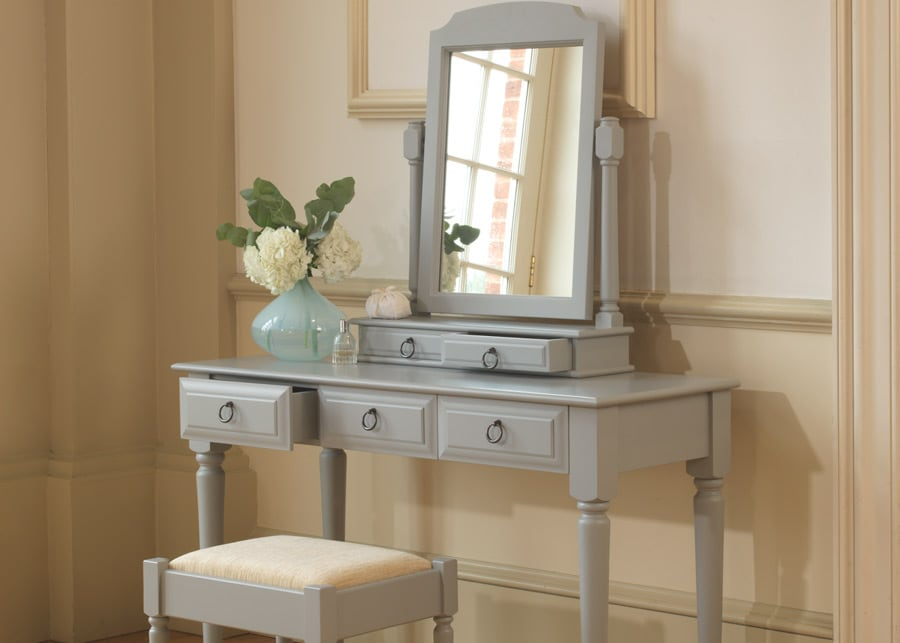 painted oak dressing table